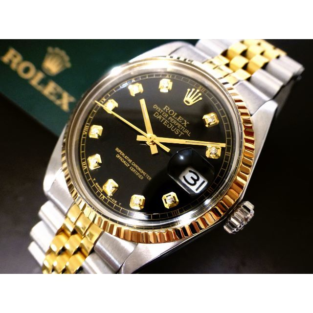 ROLEX - ROLEX DATEJUST◆SⅡカット天然ダイヤ文字盤◆Ca,1570 自動巻の通販 by B S LIMITED