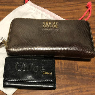 シーバイクロエ(SEE BY CHLOE)のSEE BY CHLOE 長財布& Chloeキーケース(財布)