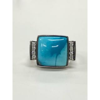 天然トルコ石  k18WGリング(リング(指輪))