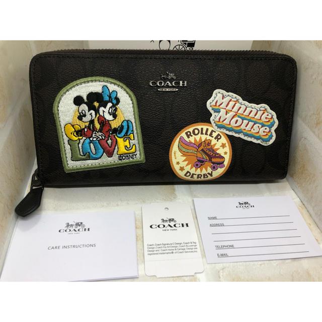 COACH - COACH ディズニー コラボ 長財布 ブラウン 新品未使用の通販 by ぷーちゃん's shop