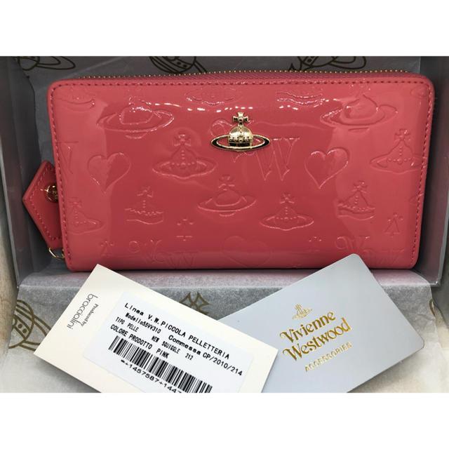 Vivienne Westwood - ヴィヴィアン ウエストウッド 長財布 エナメル ライトピンク  新品未使用の通販 by ぷーちゃん's shop
