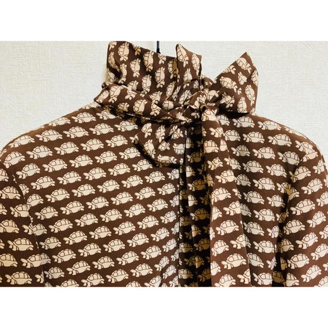 Gucci - ●GUCCIグッチ亀柄シルクリボンタイドレスシャツ新品メンズ46の通販 by oshimesama3104's shop