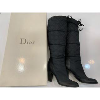 ディオール(Dior)の本物 ディオール DIOR クリスチャンディオール ブーツ ロングブーツ 黒色(ブーツ)