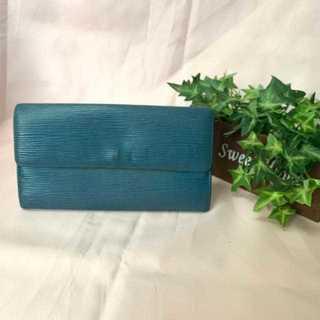 LOUIS VUITTON - ヴィトン ルイヴィトン 長財布 エピ 青 ブルー 折り財布の通販