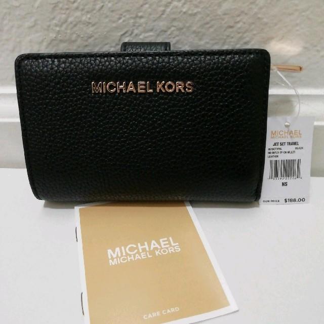 ジン偽物Japan | Michael Kors - 即発送★新品未使用 マイケルコース 黒 折り財布 ブラック プレゼントの通販 by 即発送★お急ぎの方対応いたします