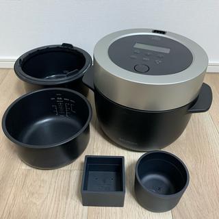 バルミューダ(BALMUDA)のバルミューダ 3合炊き 電気炊飯器 BALMUDA ブラック(炊飯器)