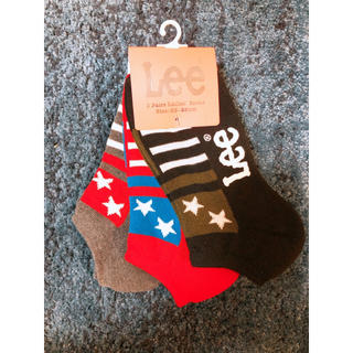 リー(Lee)のLee 星柄 靴下 厚手 ソックス (ソックス)