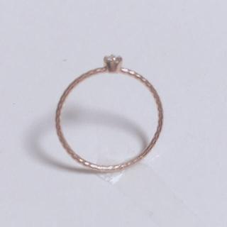 ピンクゴールド ダイヤ指輪(リング(指輪))