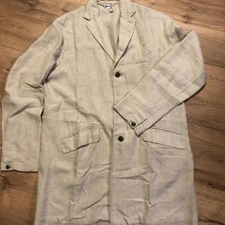 ネストローブ(nest Robe)の定番! nest robe confect リネンチェスターコート Lサイズ(チェスターコート)