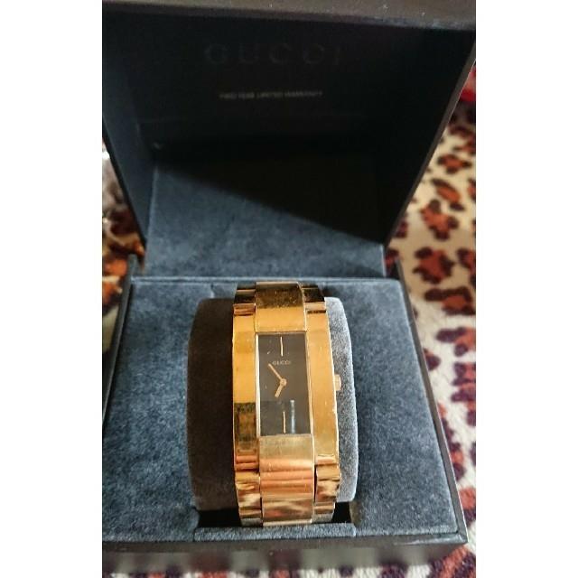 Gucci - GUCCI 腕時計 4605M ゴールド ブラック 送料込みの通販 by 23's shop