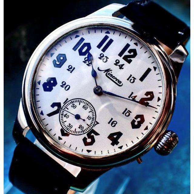 bvlgari 腕 時計 | ◆ミネルバ◆ OH済/希少/裏スケ/1920/アンティーク/腕時計/手巻の通販 by OT-ANTIQUE