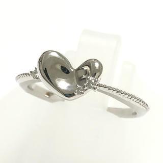 k18wg ホワイトゴールド ハート ダイヤモンド リング 指輪 可愛い(リング(指輪))