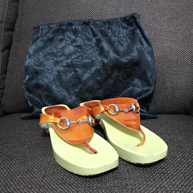 p-03e アクセサリー - Gucci - GUCCI サンダル GG イエロー 36 23cm相当の通販 by ゆらゆらsurf