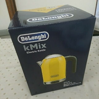 デロンギ(DeLonghi)のデロンギ kMix 電気ケトル イエロー(調理機器)