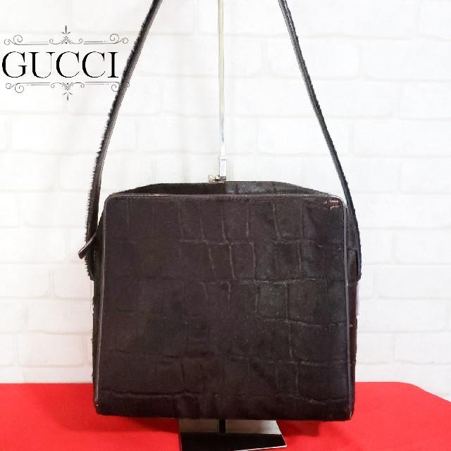 財布 chanel | Gucci - GUCCI グッチ ハラコ レザーワンショルダーバッグの通販 by どらさん