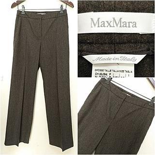 マックスマーラ(Max Mara)のウール アンゴラ カシゴラ【Max Mara】ストレートパンツ 38(その他)