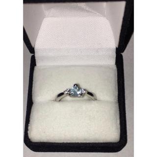 輝くブルー色シルバー指輪💍(リング(指輪))
