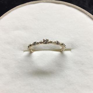 アガット(agete)の気まぐれsale【cuicui】アミュレットリング  ダイヤ三粒 1号(リング(指輪))