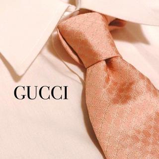 ブルガリ 長財布 偽物ヴィトン - Gucci - 希少シマライン GUCCI グッチ ネクタイ GG柄 ピンク 高級 シルク 総柄の通販