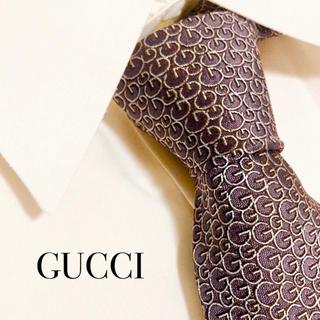ヴィトン 長財布 偽物 見分け方ダミエ - Gucci - 美品 人気 GUCCI グッチ GG柄 ネクタイ 高級 シルク 総柄 パープルの通販