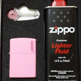 ジッポー(ZIPPO)のzippo  マットピンク セット(タバコグッズ)