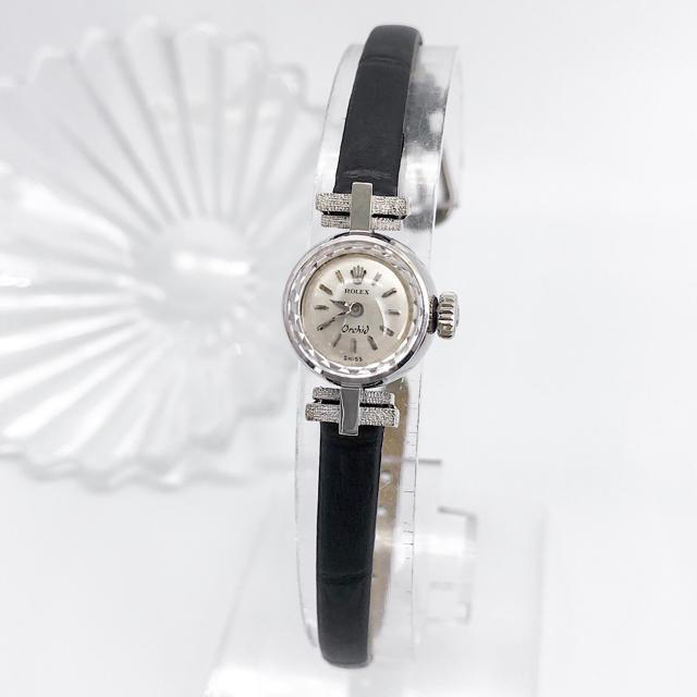 レディースウォッチ 人気 | ROLEX - 【仕上済】ロレックス オーキッド K18 WG カットガラス レディース 腕時計の通販 by LMC