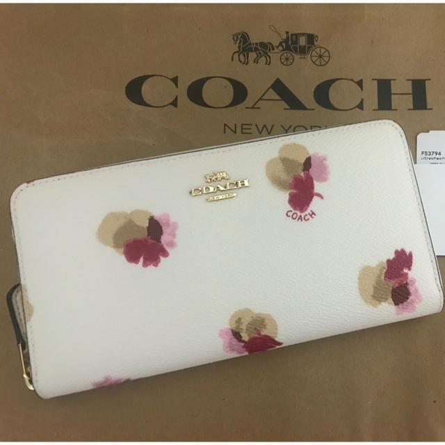 cartie | COACH - コーチ 新作花柄 長財布の通販 by hikawa's shop
