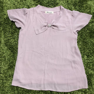 ミッシュマッシュ(MISCH MASCH)のパープル シャツ(Tシャツ(半袖/袖なし))