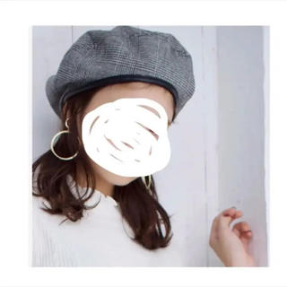 ブラウニー(BROWNY)のBROWNY WEGO グレンチェック パイピング ベレー帽(ハンチング/ベレー帽)