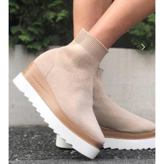 アメリヴィンテージ(Ameri VINTAGE)のamail  同型 ソックスブーツ 新品未使用ノーブランド(ブーツ)