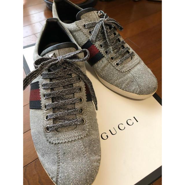 Gucci - GUCCI 激レア!グリッターウェブスニーカー スタッズ付 26.5cmの通販 by kyow's shop