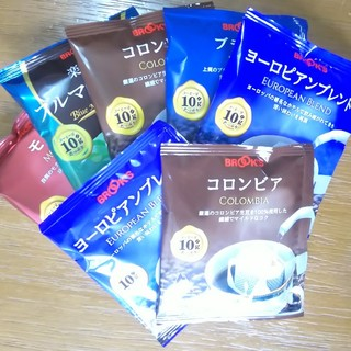 ブルックス(Brooks)のBROOKS ドリップコーヒー5種類+おまけ2袋(コーヒー)