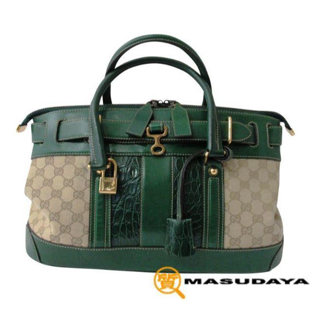ルイヴィトン 長財布 メンズ 激安 usj 、 Gucci - グッチGGキャンバスクロコ型押しレザーバックの通販 by 質Masudaya's shop
