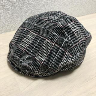 COMME CA ISM - コムサイズム キッズ ハンチング帽 グレンチェック 48cm