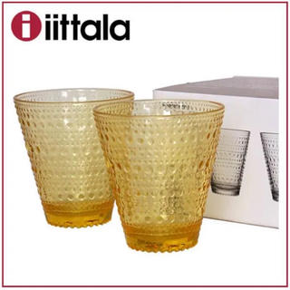 イッタラ(iittala)のイッタラ Iittala カステヘルミ◆タンブラー限定レモン  ペアセット(グラス/カップ)