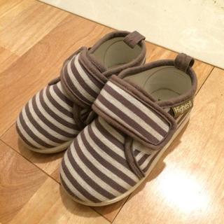 ニシマツヤ(西松屋)の靴 ボーダー(フラットシューズ)