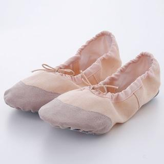 前皮バレエシューズ♥子供♥ベージュ♥レッスン用♥発表会♥バレエ靴♥女の子(バレエシューズ)