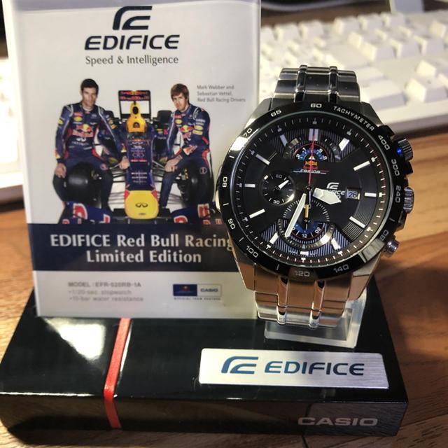 香港 時計 スーパーコピー ヴィトン - EDIFICE - カシオエディフィスEFR-520RB-1AJRレッドブルリミテッドエディションの通販 by ユキチャン