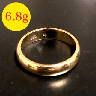k18 甲丸 リング 6.8g 18号(シンプル メンズ かまぼこ 18k yg(リング(指輪))
