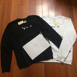 アニエスベー(agnes b.)のagnes b.定番L黒白2枚セットロゴアニエス・ベースウェット(トレーナー/スウェット)