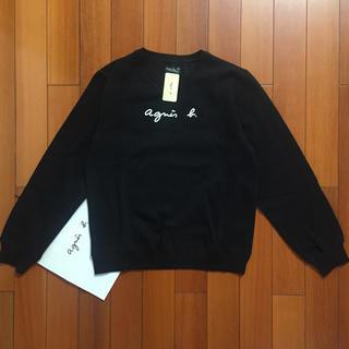 アニエスベー(agnes b.)のagnes b.定番L黒ロゴアニエス・ベースウェット(トレーナー/スウェット)