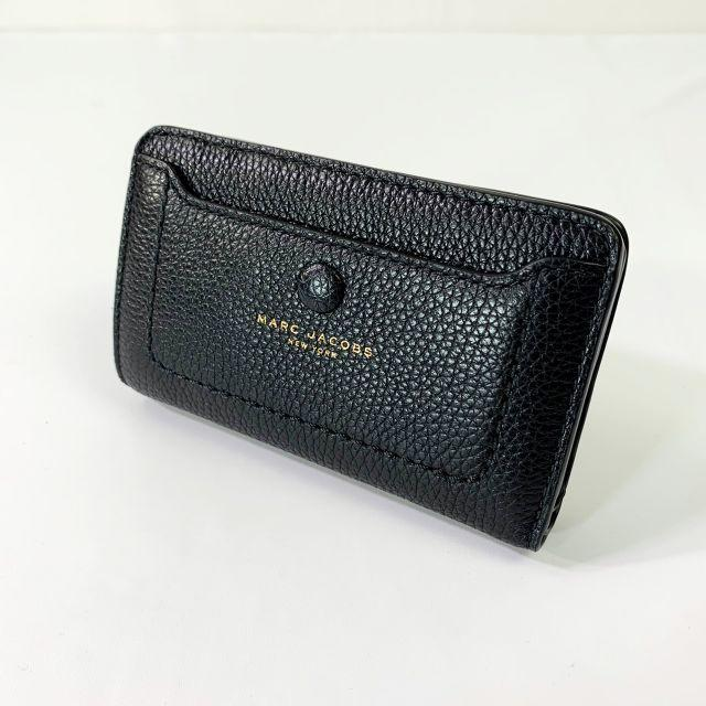 MARC JACOBS - ��未使用♡超美� マークジェイコブス 折り財布 ブラック レザー�通販 by lily��セール中