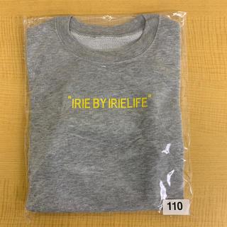 アイリーライフ(IRIE LIFE)の◆新品未使用◆irie life子供用トレーナー 110サイズ グレー(Tシャツ/カットソー)