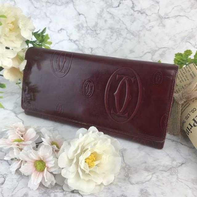 オメガルビー厳選 - Cartier - ❤️セール❤️Cartier 長財布 HAPPY BIRTHDAY ワインレッドの通販 by 即購入歓迎shop