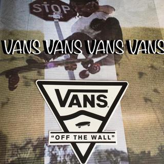 ヴァンズ(VANS)のVANSバンズUS限定new skool型抜きsk8デザインステッカー(スケートボード)