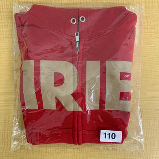 アイリーライフ(IRIE LIFE)の◆新品未使用◆irie life子供用ジップアップパーカー 110サイズ レッド(Tシャツ/カットソー)