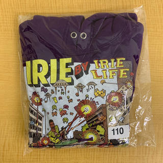 アイリーライフ(IRIE LIFE)の◆新品未使用◆irie life子供用パーカー 110サイズ パープル(Tシャツ/カットソー)