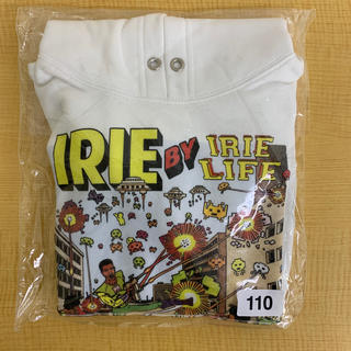 アイリーライフ(IRIE LIFE)の◆新品未使用◆irie life子供用パーカー 110サイズ ホワイト(Tシャツ/カットソー)