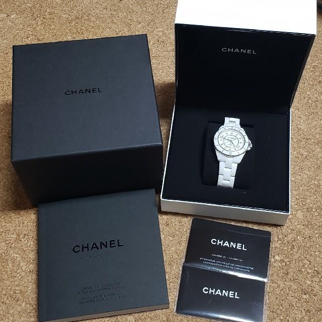 CHANEL - シャ�ル 腕時計 J12 ダイヤ ホワイト セラミック 新型 2019年 モデル�通販 by shop