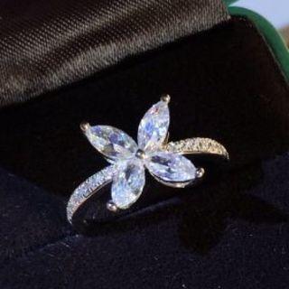 ティファニー(Tiffany & Co.)の新品 Tiffany &Co. リング 指輪 レディース 花柄 超美品(リング(指輪))